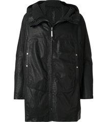 isaac sellam experience hooded fisherman coat - black