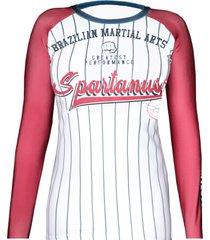 rash guard feminina baseball spartanus fightwear - multicolorido - feminino - dafiti