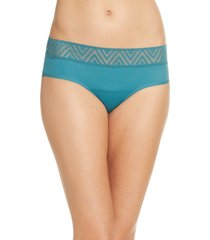 women's thinx period proof hiphugger panties, size medium - green