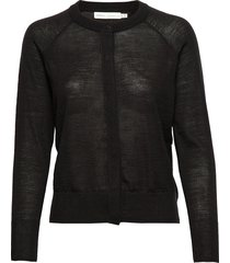 nora cardigan gebreide trui cardigan zwart inwear