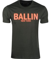 ballin est. 2013 heren t-shirt regular fit army neon oranje