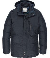 semi long jacket shiftback parka dark sapphire