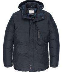 semi long jacket shiftback parka dark sapphire