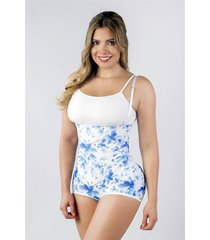floral print underbust girdle body shaper ~ fajas reductoras colombianas