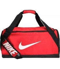 maleta de entrenamiento nike brasilia duffel ba5334-657 - rojo
