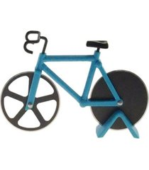 cortador de pizza bicicleta decorativo cor azul metal 12x18 - preto - dafiti