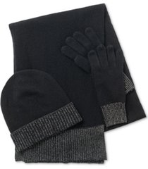 charter club cashmere hat, scarf & gloves 3pc set, created for macy's