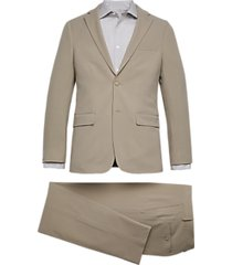calvin klein skinny fit suit light tan