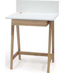 biurko jesionowe luka 65x50cm z szufladą