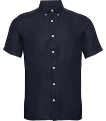 fredrik bd ss-clean linen kortärmad skjorta blå j. lindeberg