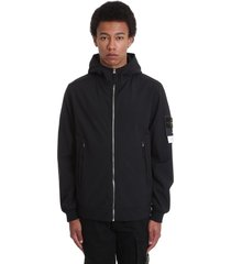 stone island casual jacket in black polyester