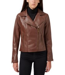 sam edelman faux-leather moto jacket