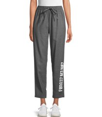 redvalentino women's cropped track pants - grey - size 40 (8)