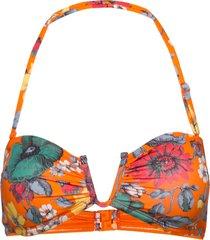 valetudo bandeau bikini top bikinitop orange french connection