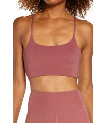 girlfriend collective juliet sports bra, size large in fig at nordstrom