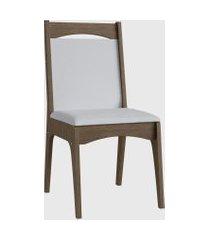 cadeira mdf estofada com travessa par marrom móveis cançáo