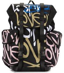 ports v mochila com estampa de grafite - preto