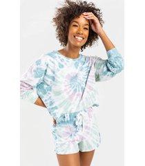 gracelyn tie-dye lounge sweatshirt - multi