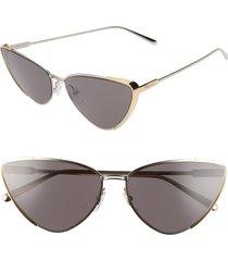 women's salvatore ferragamo 63mm oversize cat eye sunglasses -