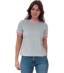 womens straight contrast trim t-shirt