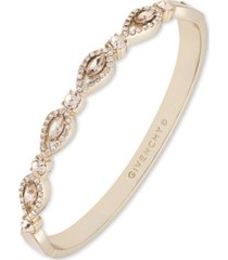 givenchy gold-tone crystal navette bangle bracelet