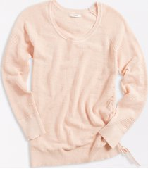 maurices womens solid ruched side pullover pink