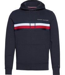 hilfiger logo hoody hoodie trui blauw tommy hilfiger