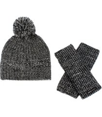 rebecca minkoff women's marled 2 beanie hat and arm warmer 2pc set