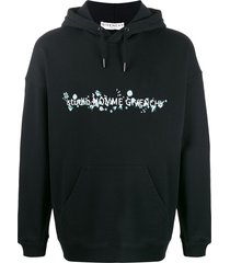 givenchy floral logo hoodie - black