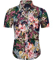 ditsy floral beach button up shirt