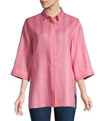 nabidhasa stripe linen blouse