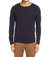 men's selected homme rocky men's crewneck sweater, size large - blue