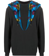 opening ceremony scarf-embellished hoodie - black