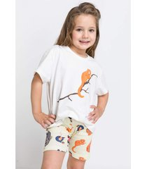 pijama e camisola acuo pijama e camisola laranja - laranja - menina - dafiti