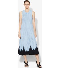 proenza schouler dipped tie dye knit dress light blue/navy l
