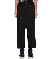 belted crop pants