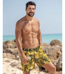 masculino swimwear pantaloneta multicolor leo 505027