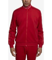 sean john logo taping neoprene men's track jacket