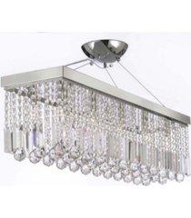 modern 10-light chrome and crystal chandelier pendant