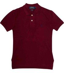 ralph lauren burgundy polo shirt