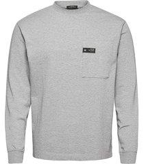 organic cotton heavy jersey longsleeve tee t-shirts long-sleeved grå scotch & soda