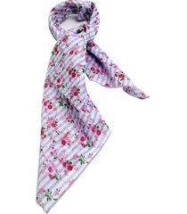 lenço smm acessorios mini flores lilas