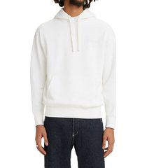 men's levi's men's relaxed fit logo hoodie, size xx-large r - white