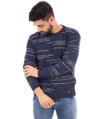 blusão de malha sumaré 10442 azul