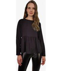 blusa angela negra jacinta tienda