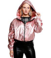 chaqueta aron rosa metalizado atrevida