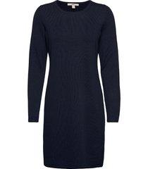 dresses flat knitted kort klänning blå edc by esprit