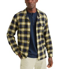 dockers men's alpha plaid camp shirt