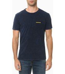 camiseta mc ckj industrial worker - azul médio - pp