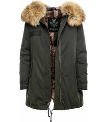 parka a-line with fur and padded lining